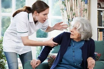 Elderly person being abused & neglected